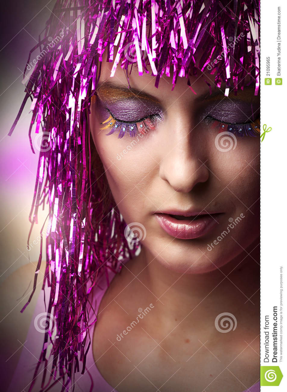 Bright glamour make-up for party