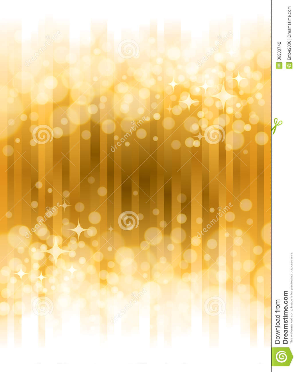 bright gold background with shining lights and stars.