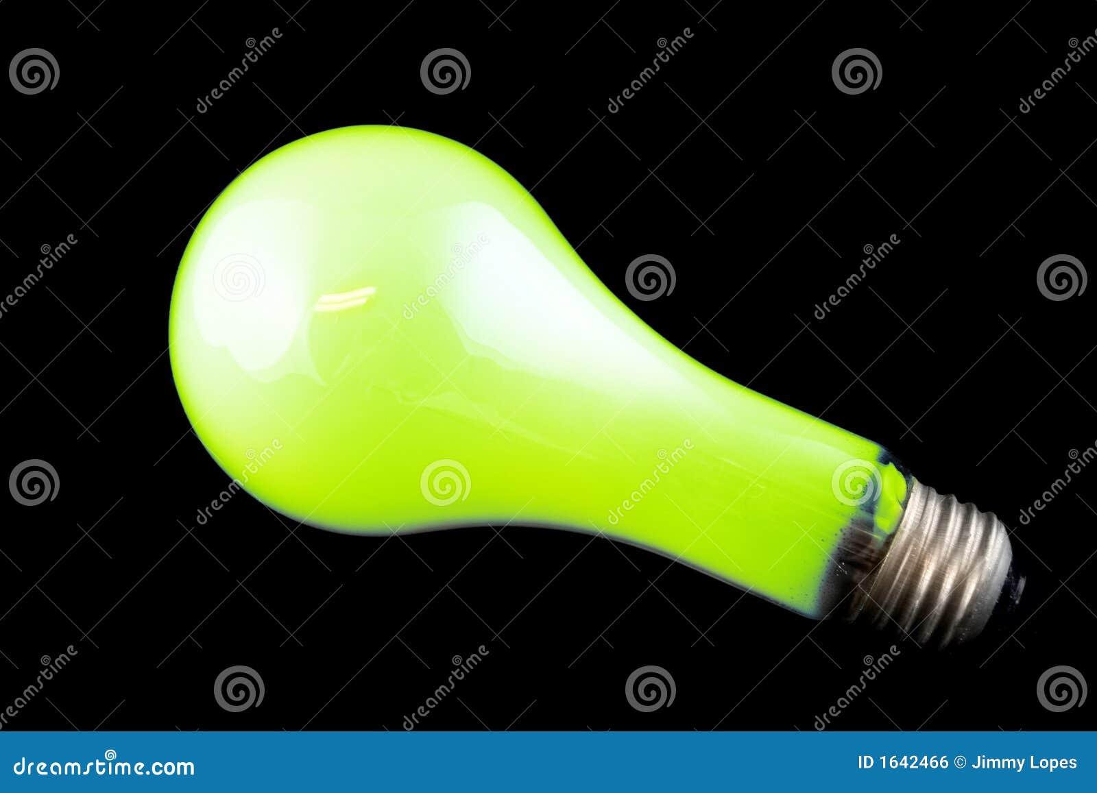 Bright Green Light Bulb Royalty Free Stock Image Image 1642466