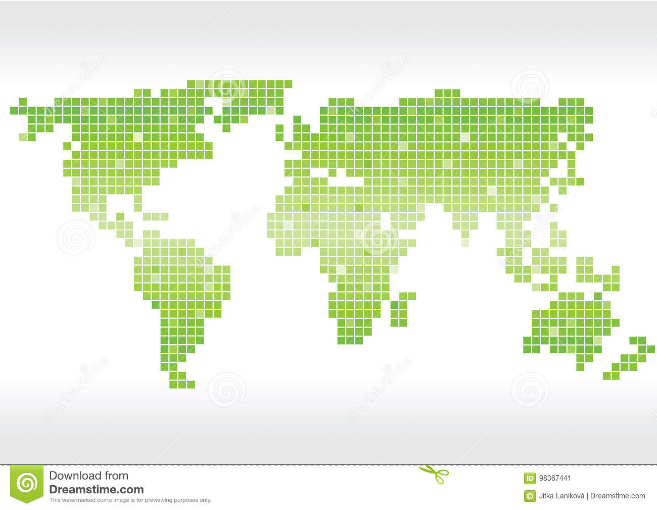 Bright green vector squares world map silhouette stock vector bright green vector squares world map silhouette royalty free vector gumiabroncs Image collections