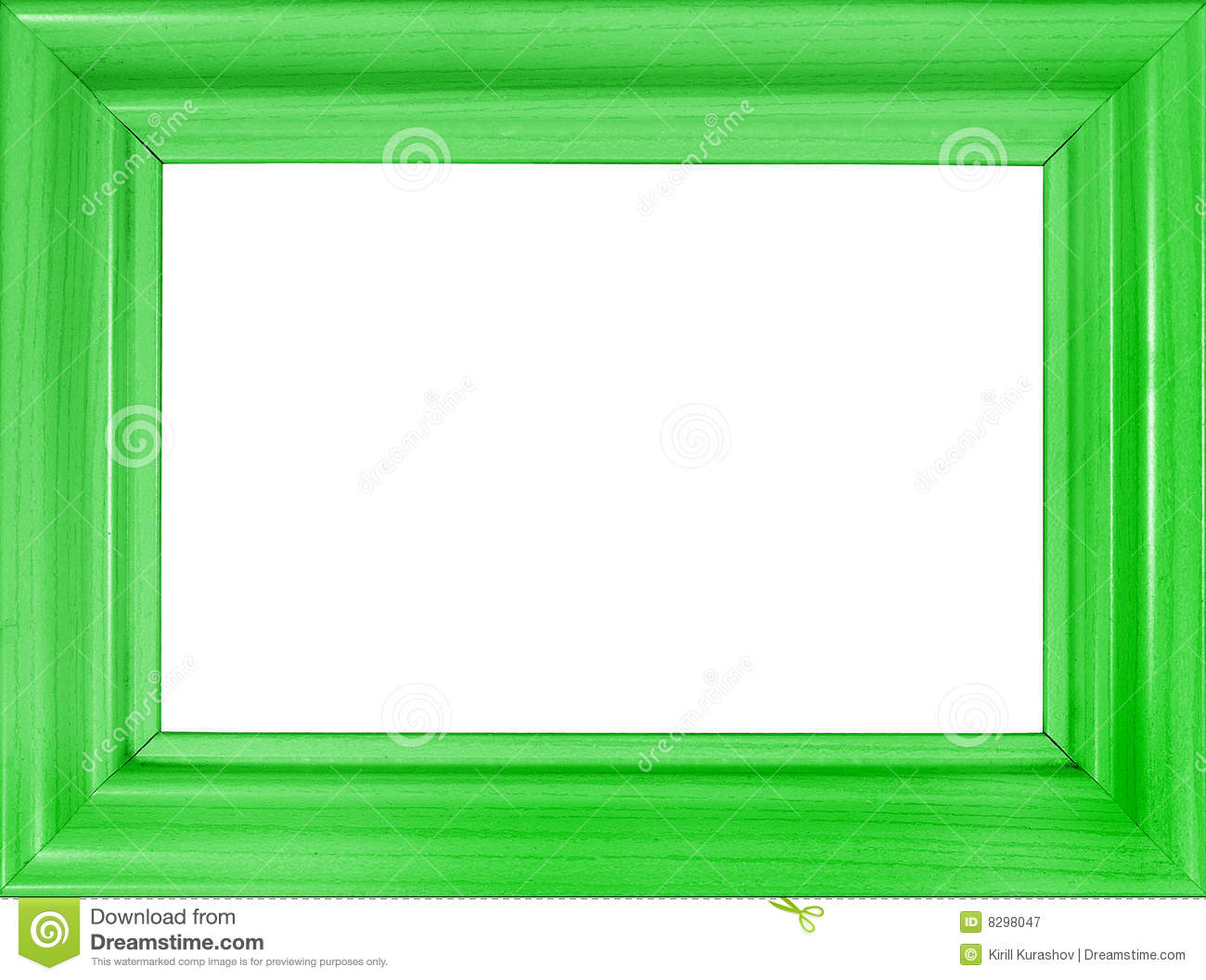 Bright Green Wooden Frame Royalty Free Stock Photography