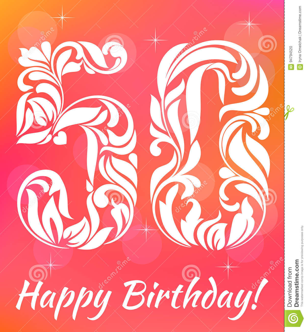 Bright Greeting Card Template Celebrating 50 Years Birthday Decorative Font