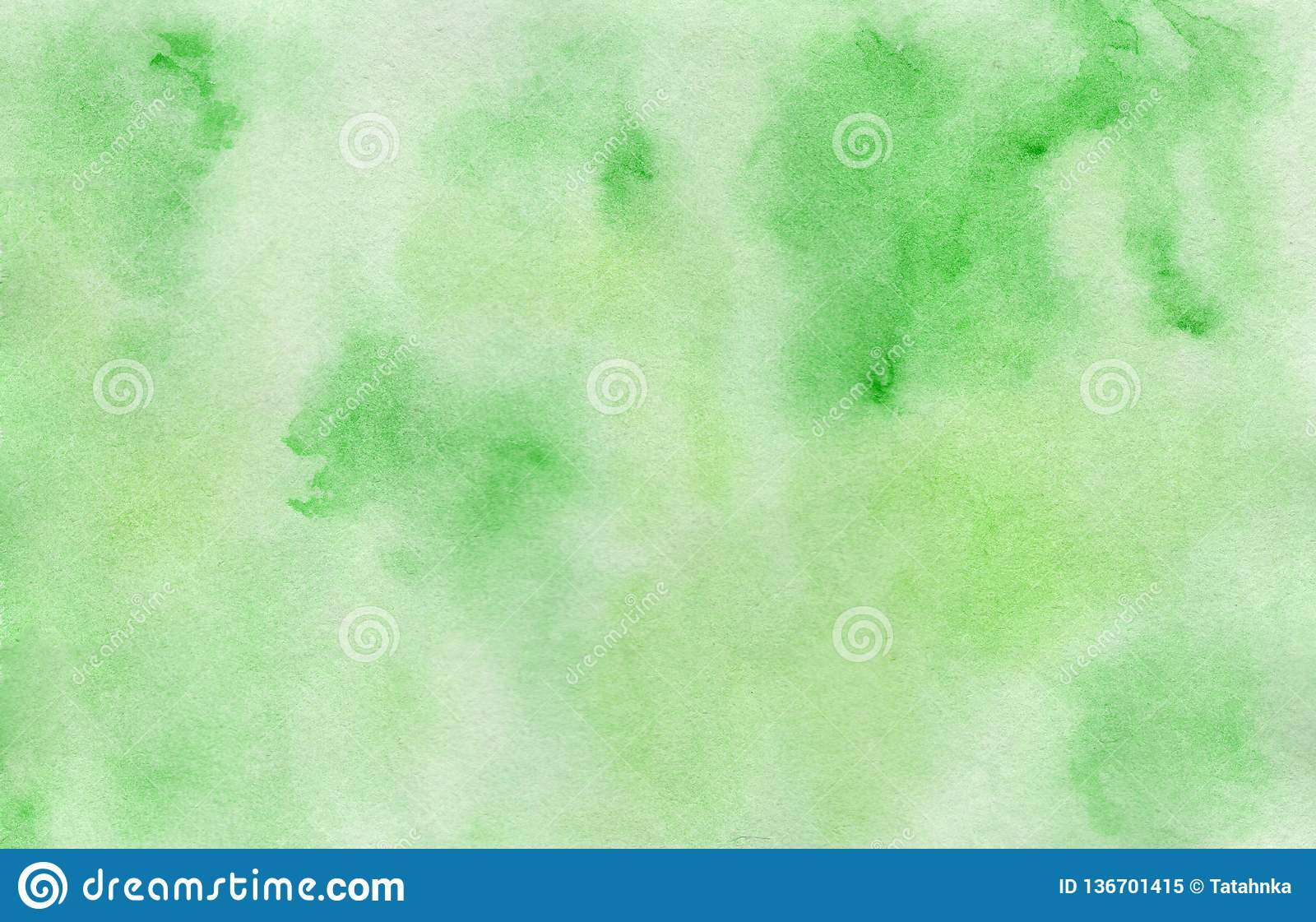 Bright hand painted green watercolor background