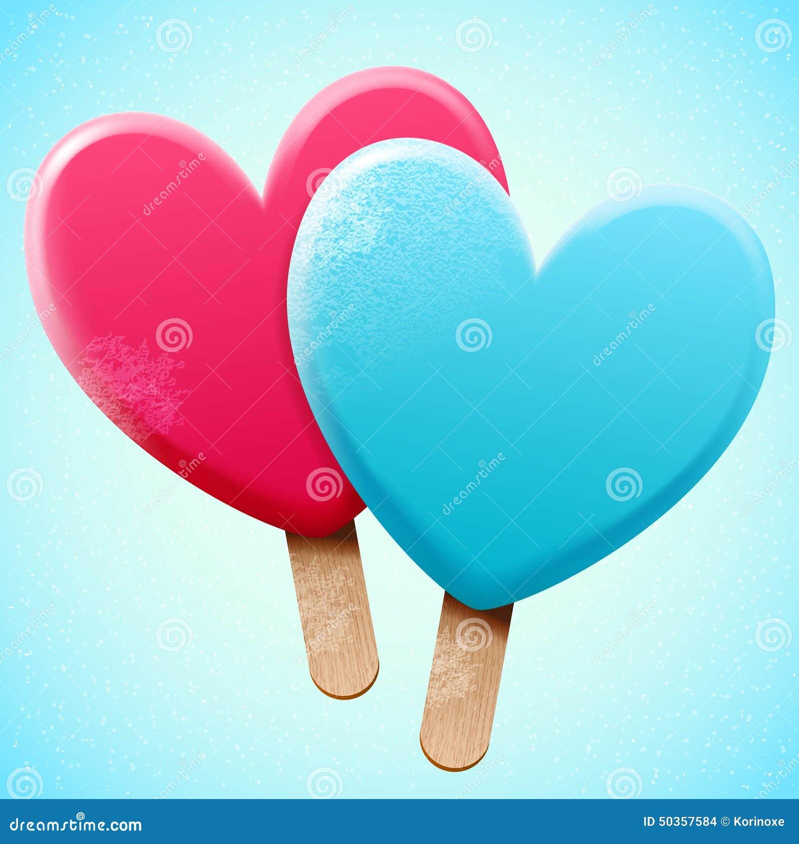 Fresh Ice Cream Stick In Summer Wallpaper Vector: Bright Ice Cream On A Stick Stock Vector