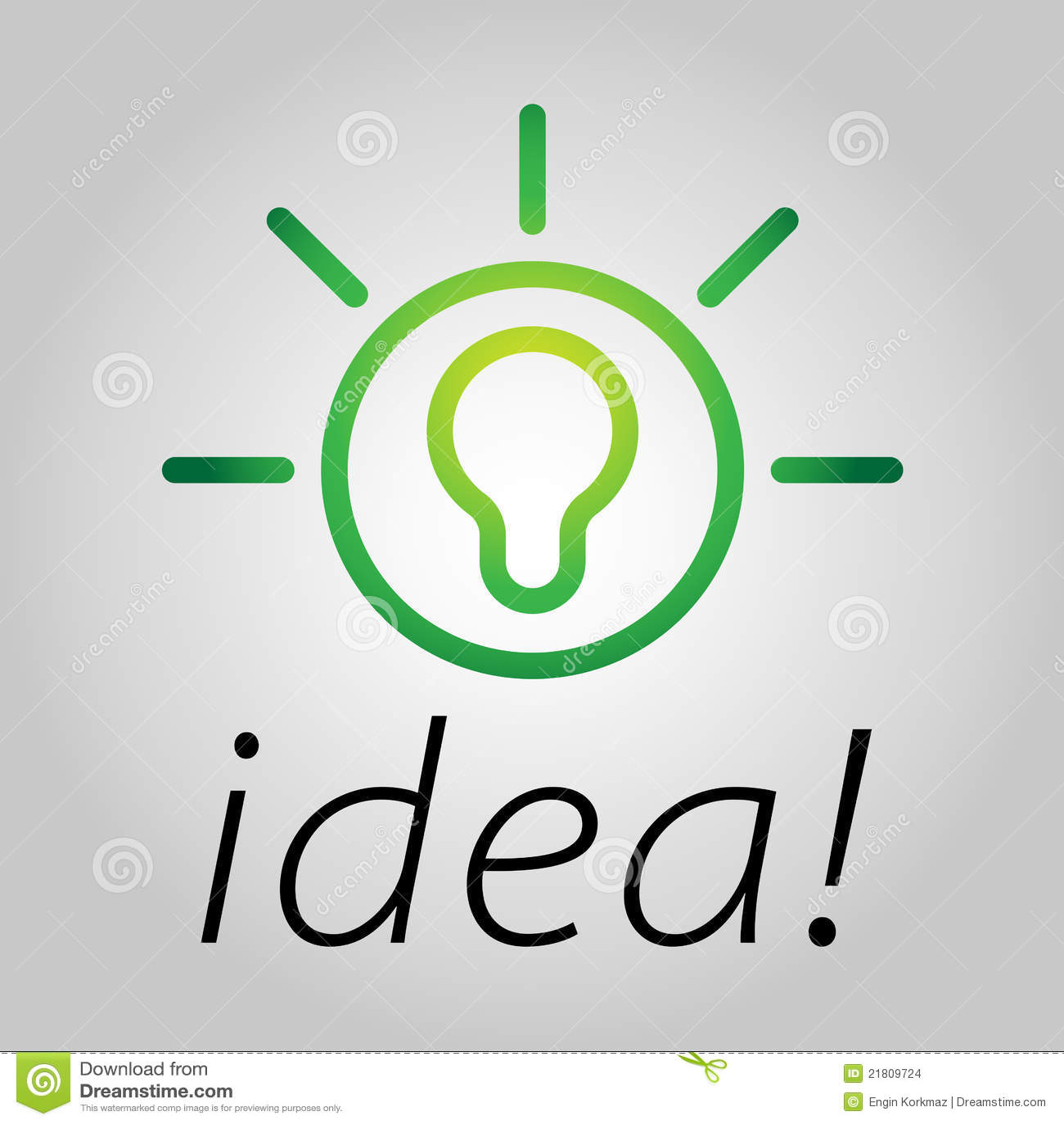 Modern Bulb Icon Symbolizing Bright Ideas In A Simple Form