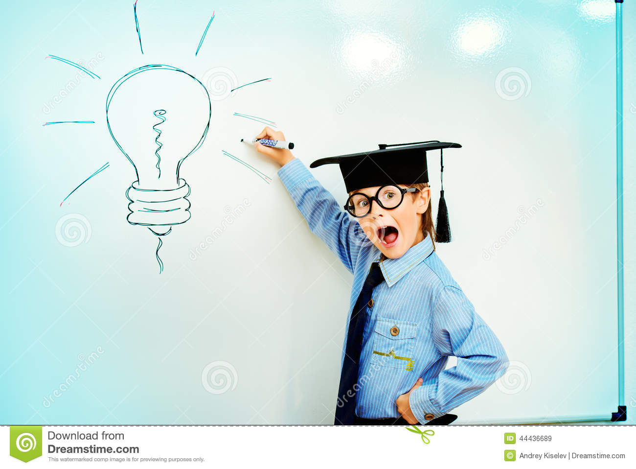 Modern Concept Of Classroom Management : Bright idea stock photo image