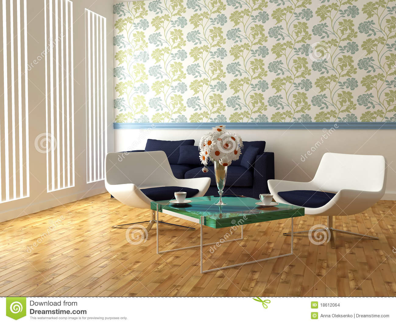 Bright interior design of modern living room royalty free for Design my room online interior decorating