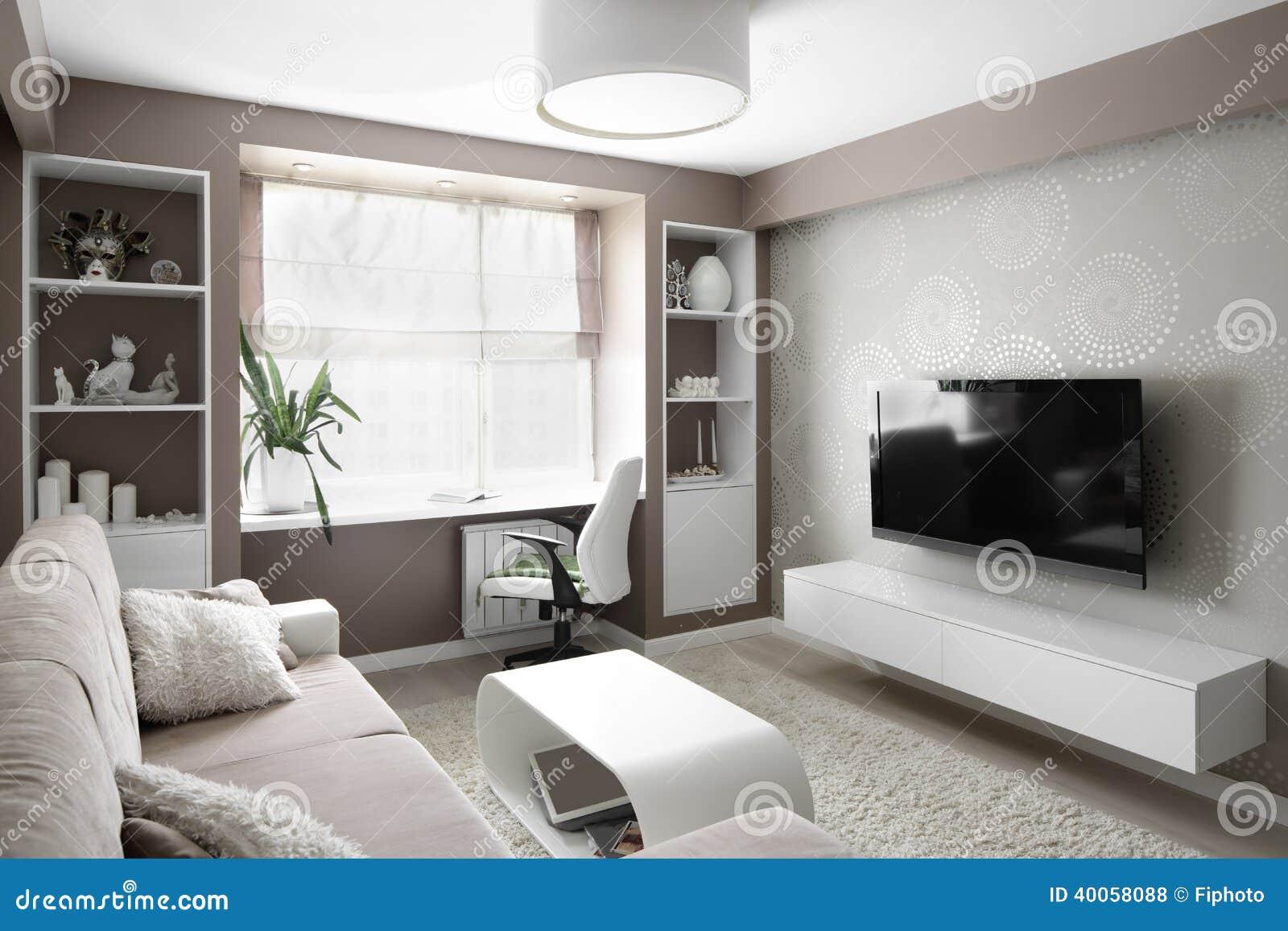 Bright Living Room Royalty Free Stock Photo 34156533