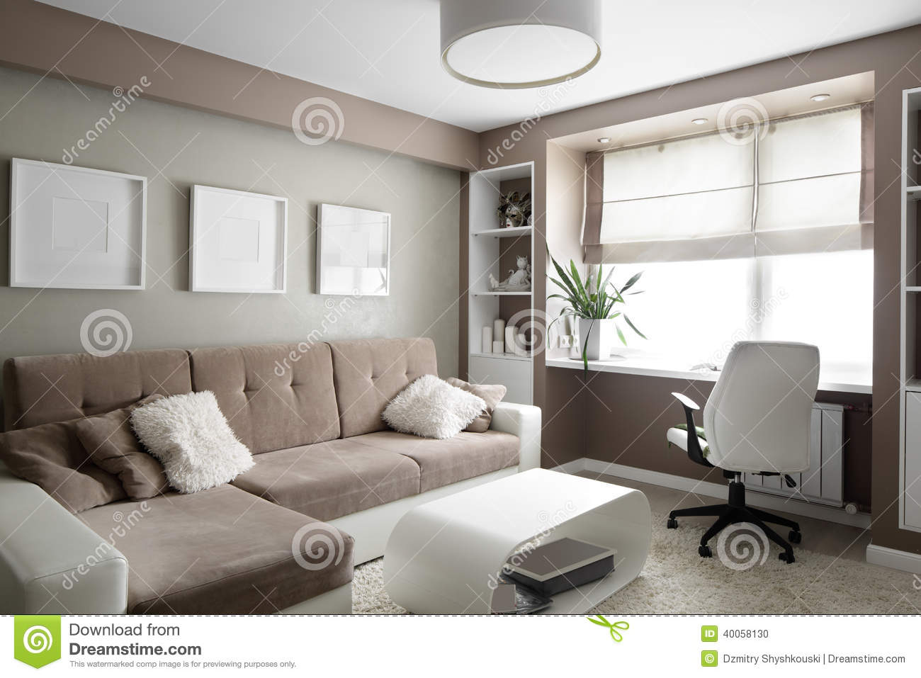 Bright interior of living room stock photo image 40058130 for Big modern living room