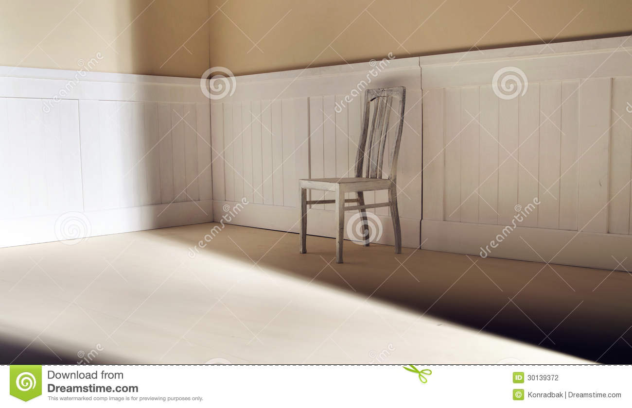 bright interior with chair against wall stock photography image 30139372. Black Bedroom Furniture Sets. Home Design Ideas