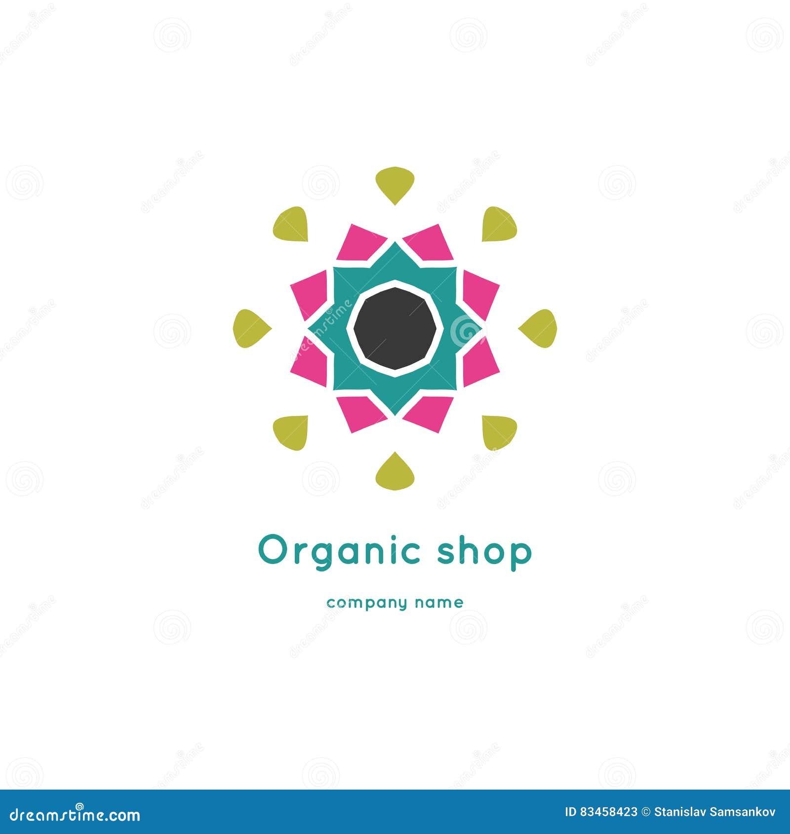 Bright And Juicy Beautiful Circular Logo For Organic Shop, Eco ...