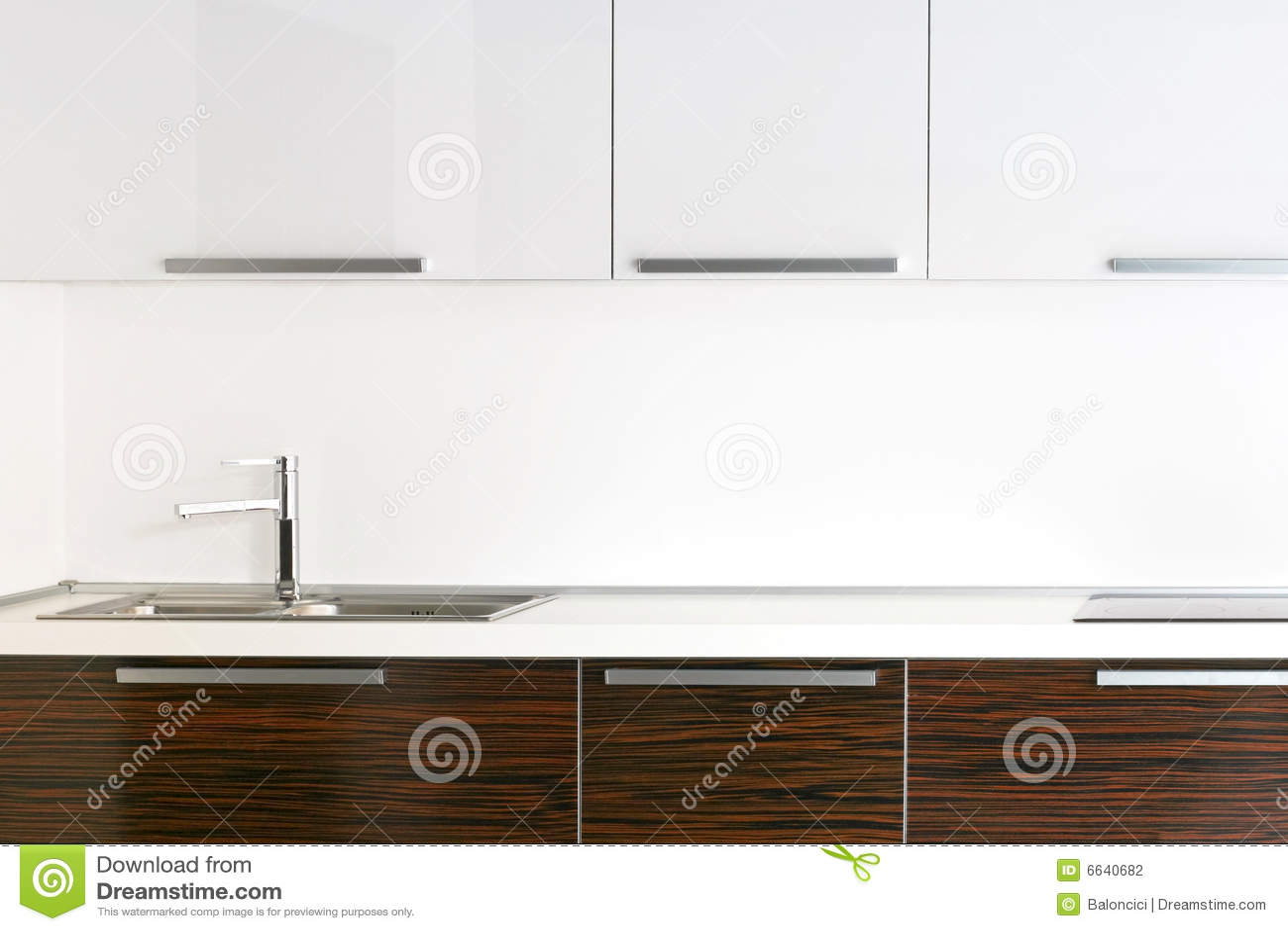 Bright kitchen counter