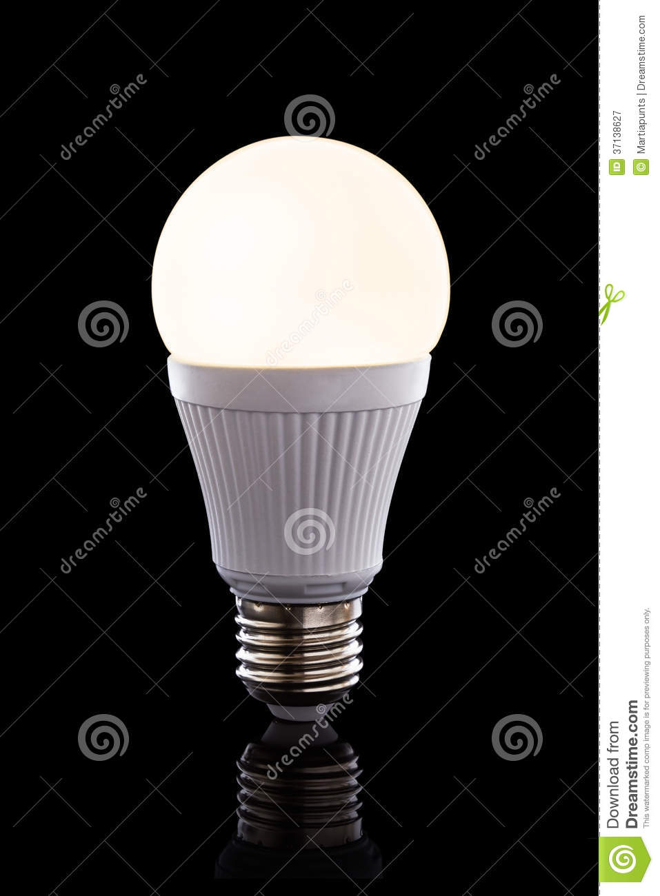 bright led light bulb royalty free stock photography. Black Bedroom Furniture Sets. Home Design Ideas