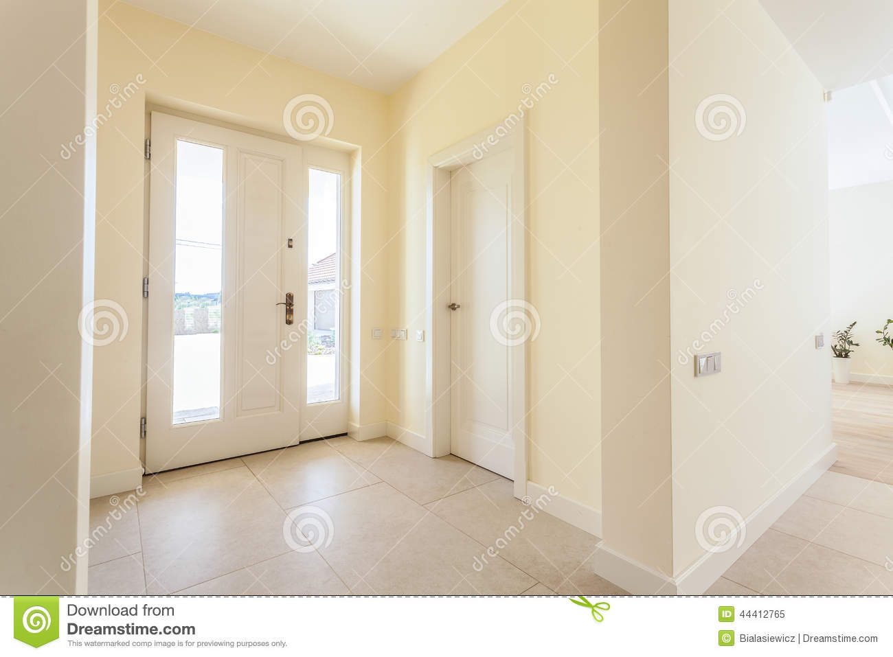 Bright Lobby In Modern House Stock Image Image 44412765