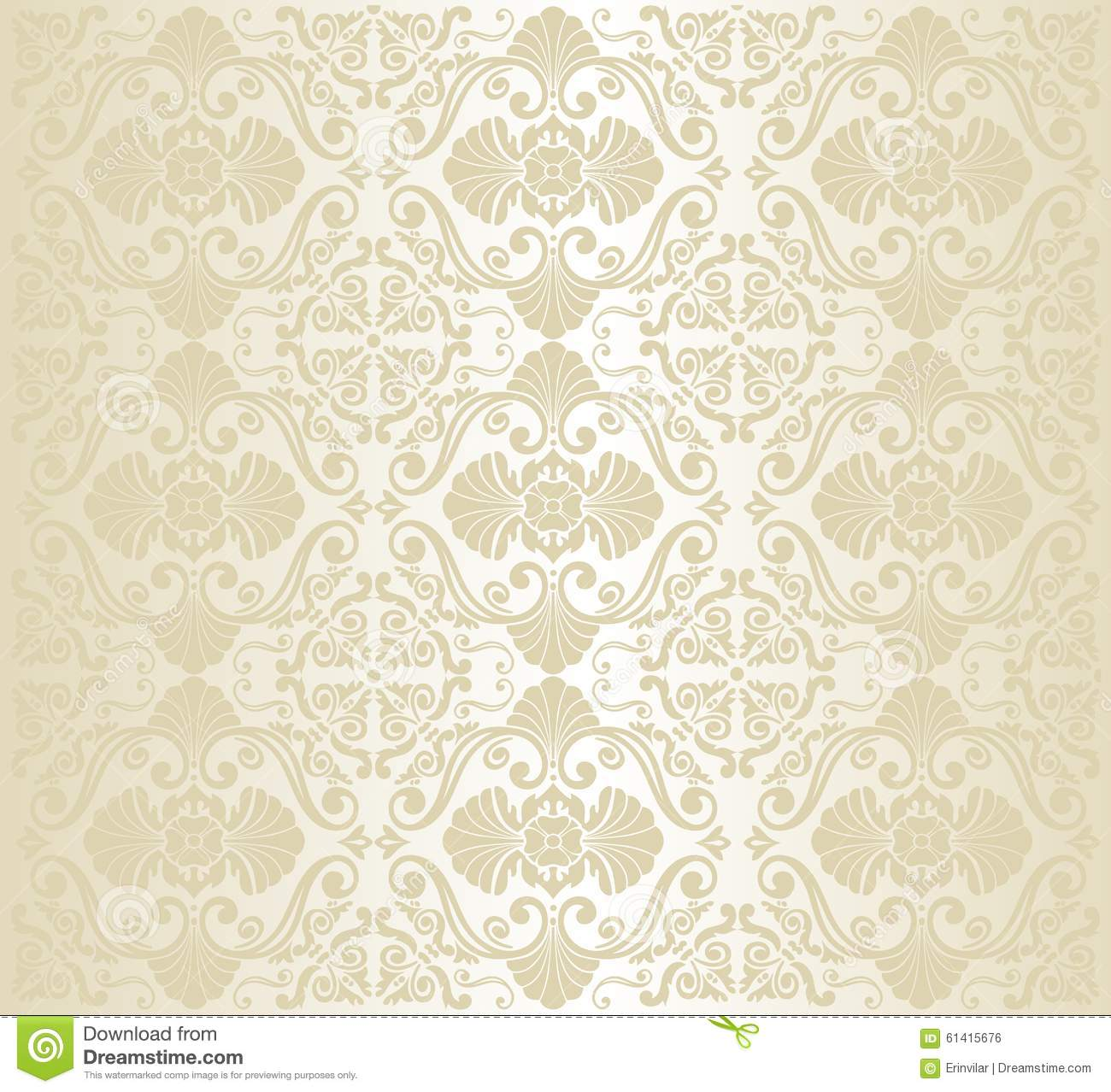 Bright Luxury Vintage Wallpaper Stock Vector - Image: 61415676