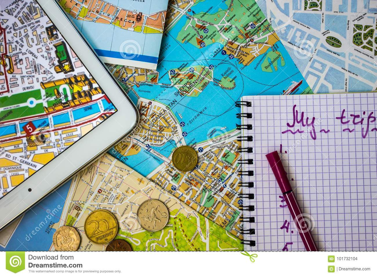 Vacation budget. stock photo. Image of change, currency ... on map my house, map my fitness, map my money, map my route, map my land, map my drives, map my cruise, map my business,
