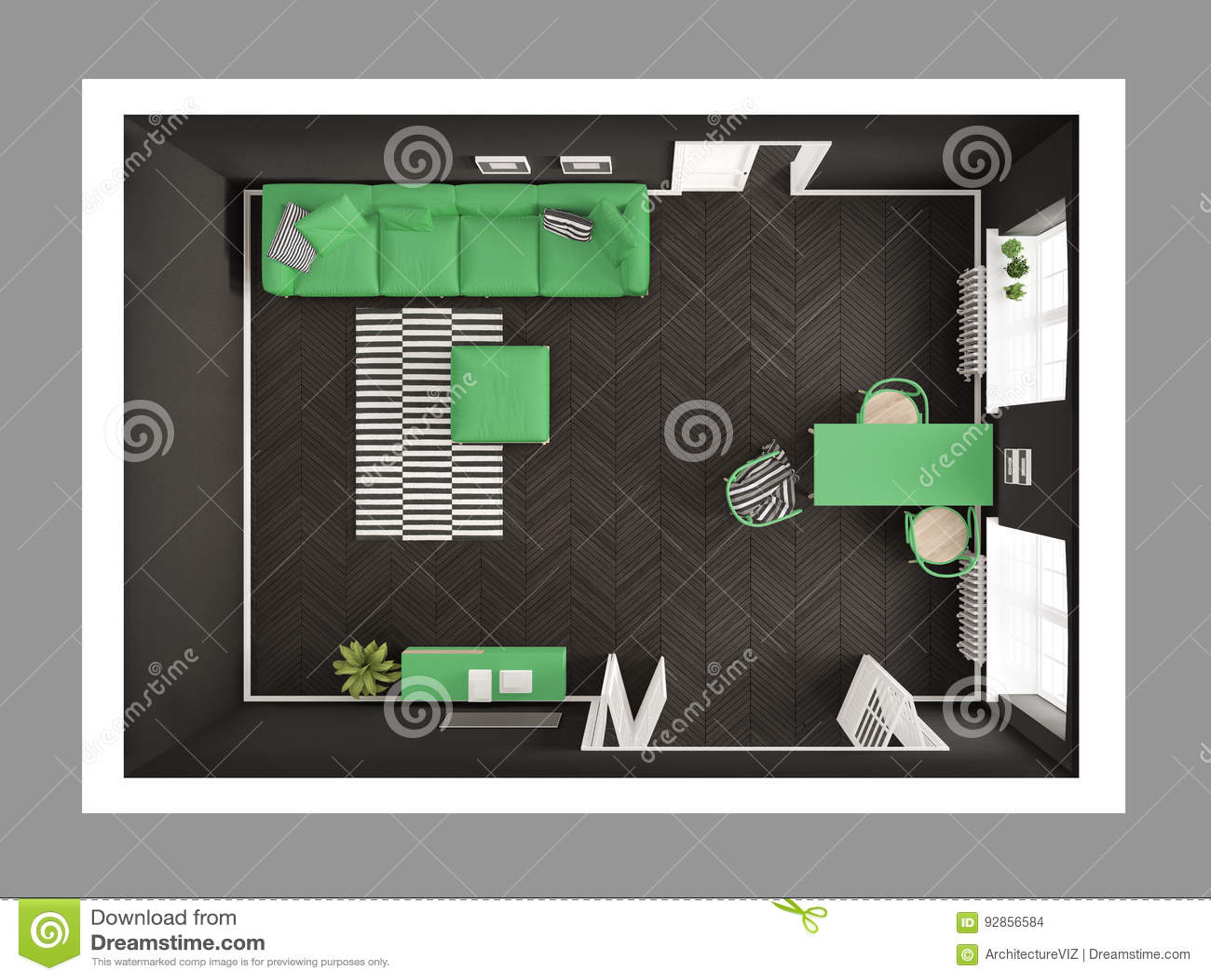 Astounding Bright Minimalist Living Room With Sofa And Dining Table Creativecarmelina Interior Chair Design Creativecarmelinacom