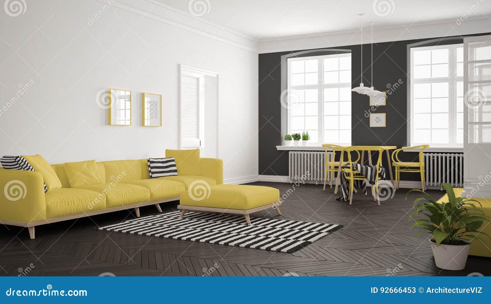 Entzückend Sofa Scandi Galerie Von Pattern Bright Minimalist Living Room With And