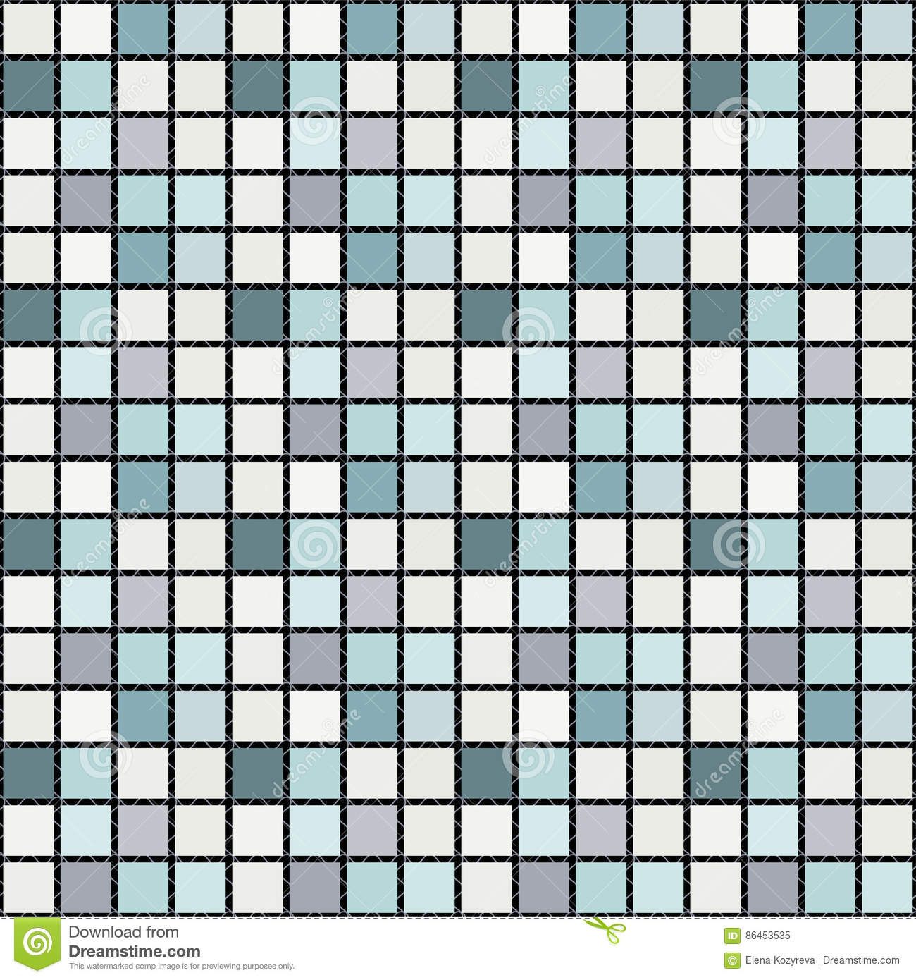 Bright Mosaic Seamless Pattern Background Square Tiles Stock Vector ...