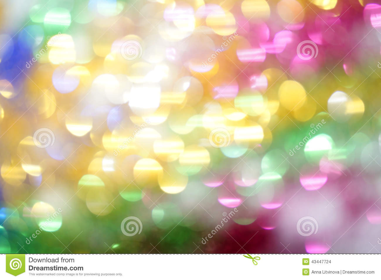 Bright Multi Colored Spots As Abstract Background Stock