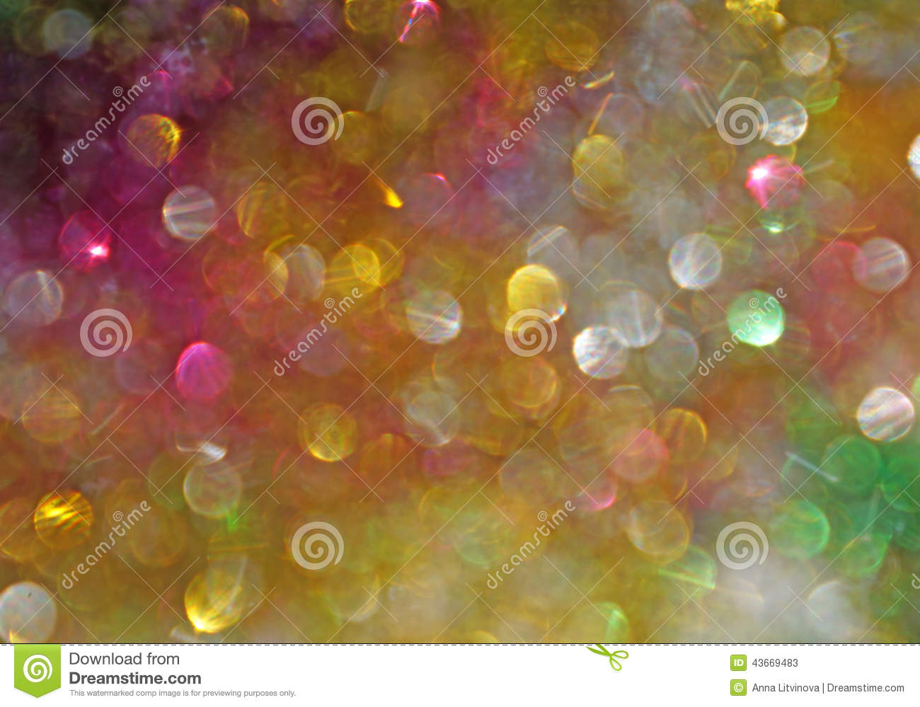 Bright Multi-colored Spots As Abstract Background Stock ...