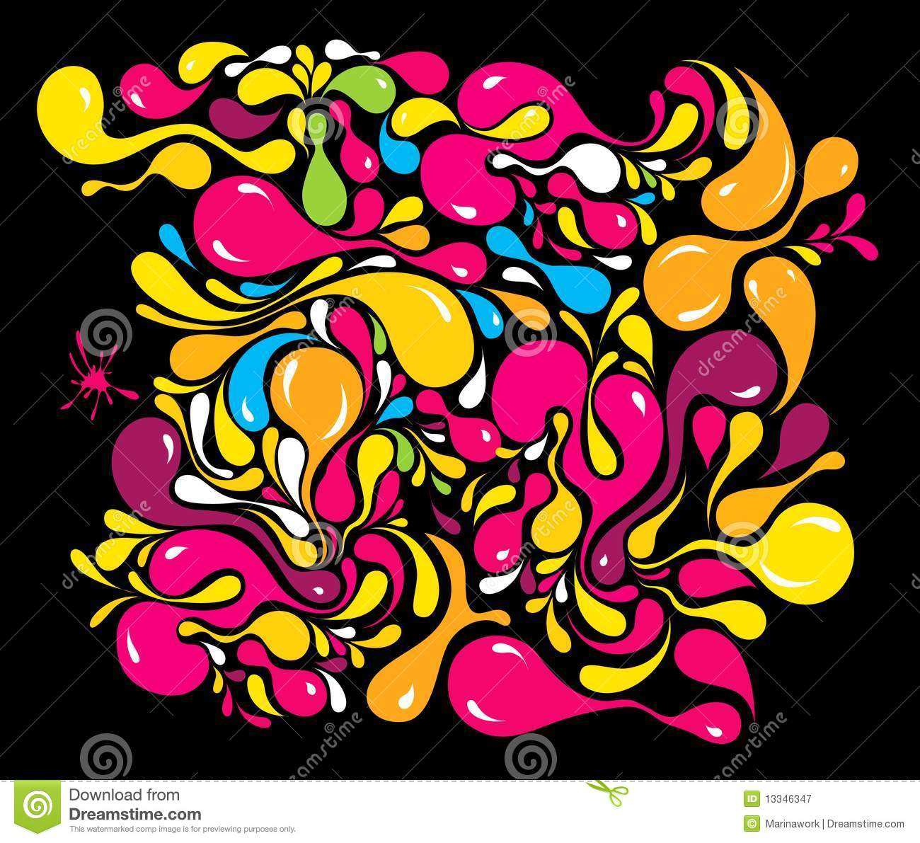 Bright Multi-coloured Pattern Royalty Free Stock ... Bright Colourful Patterns