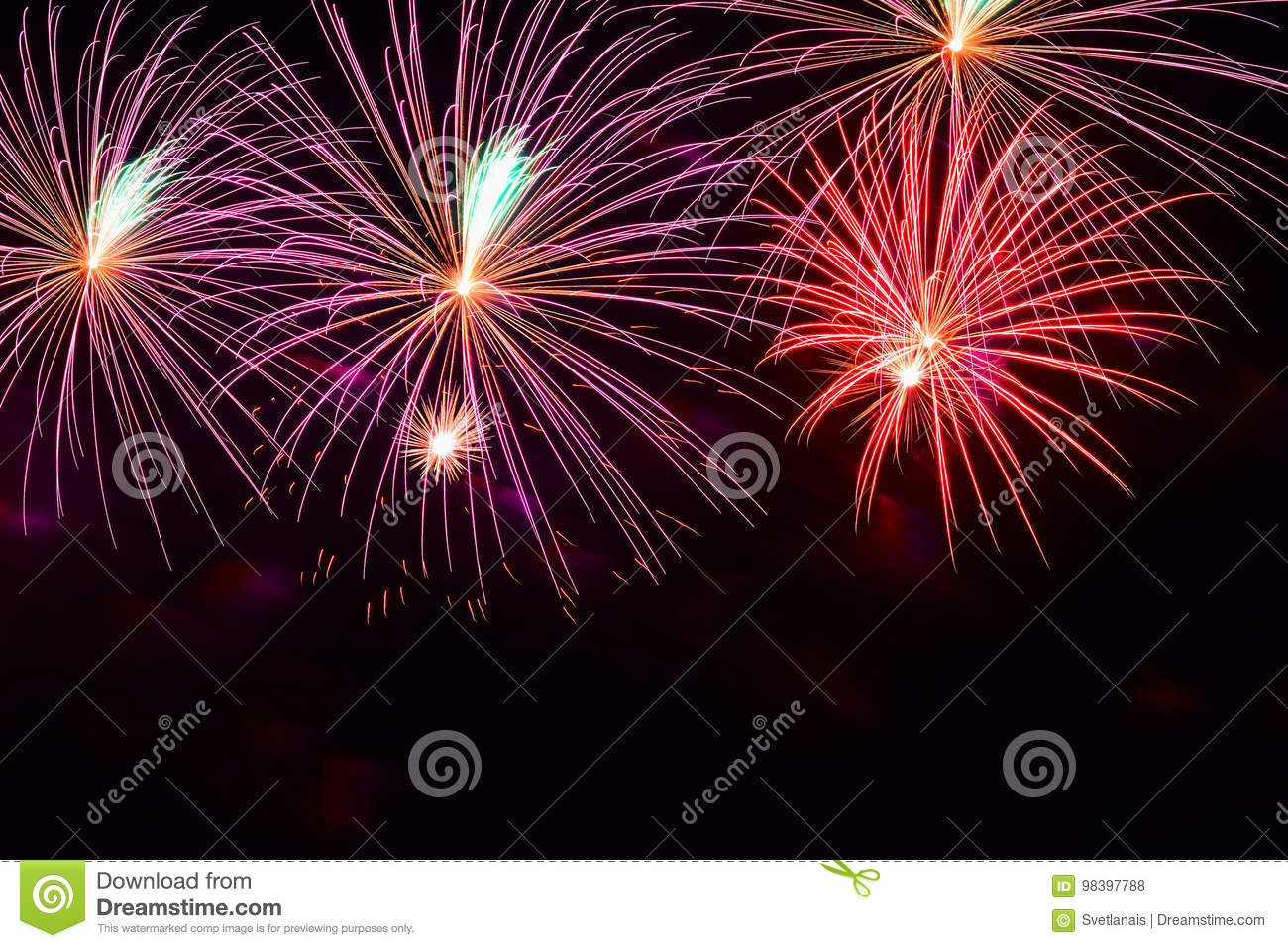 bright multicolored glowing balls of fireworks smart background for themes with different holidays with free