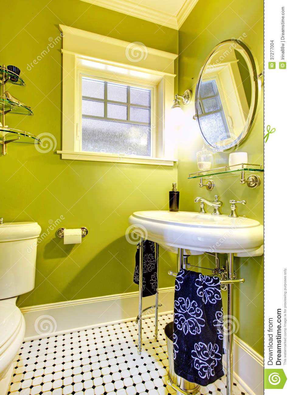 Bright Neon Green Bathroom Stock Images Image 37277004