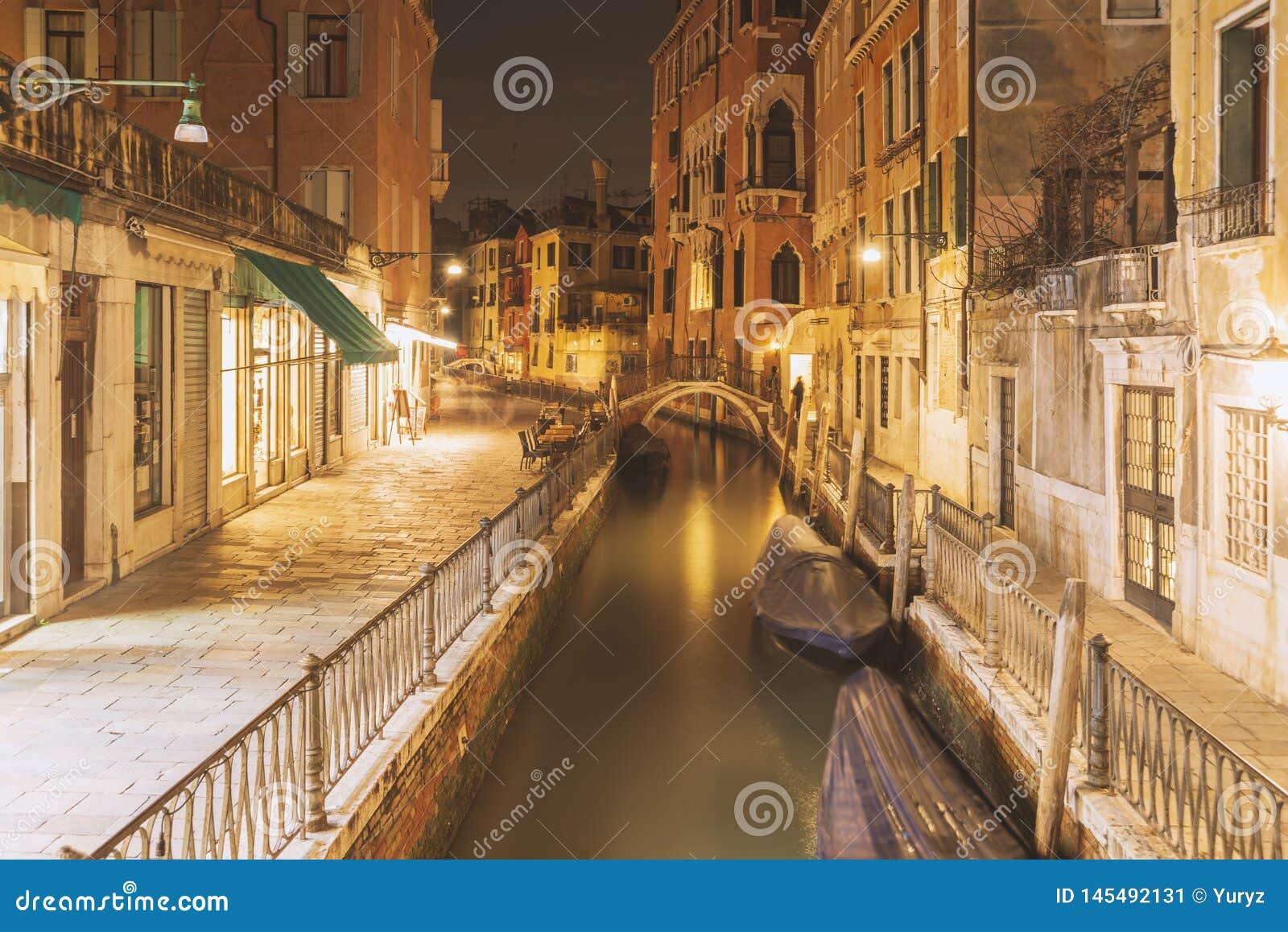 Bright night in Venice