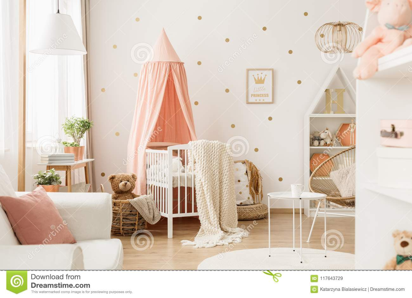 Nursery room with dots