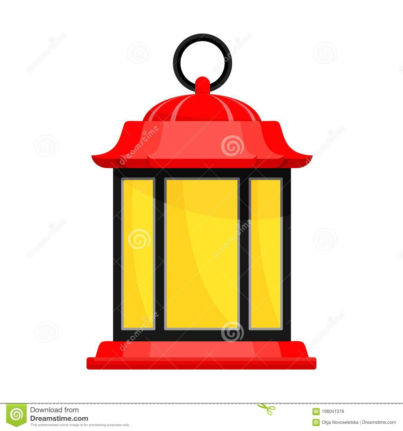 Lantern Oldfashioned Japan Stock Vector Illustration Of Graphic
