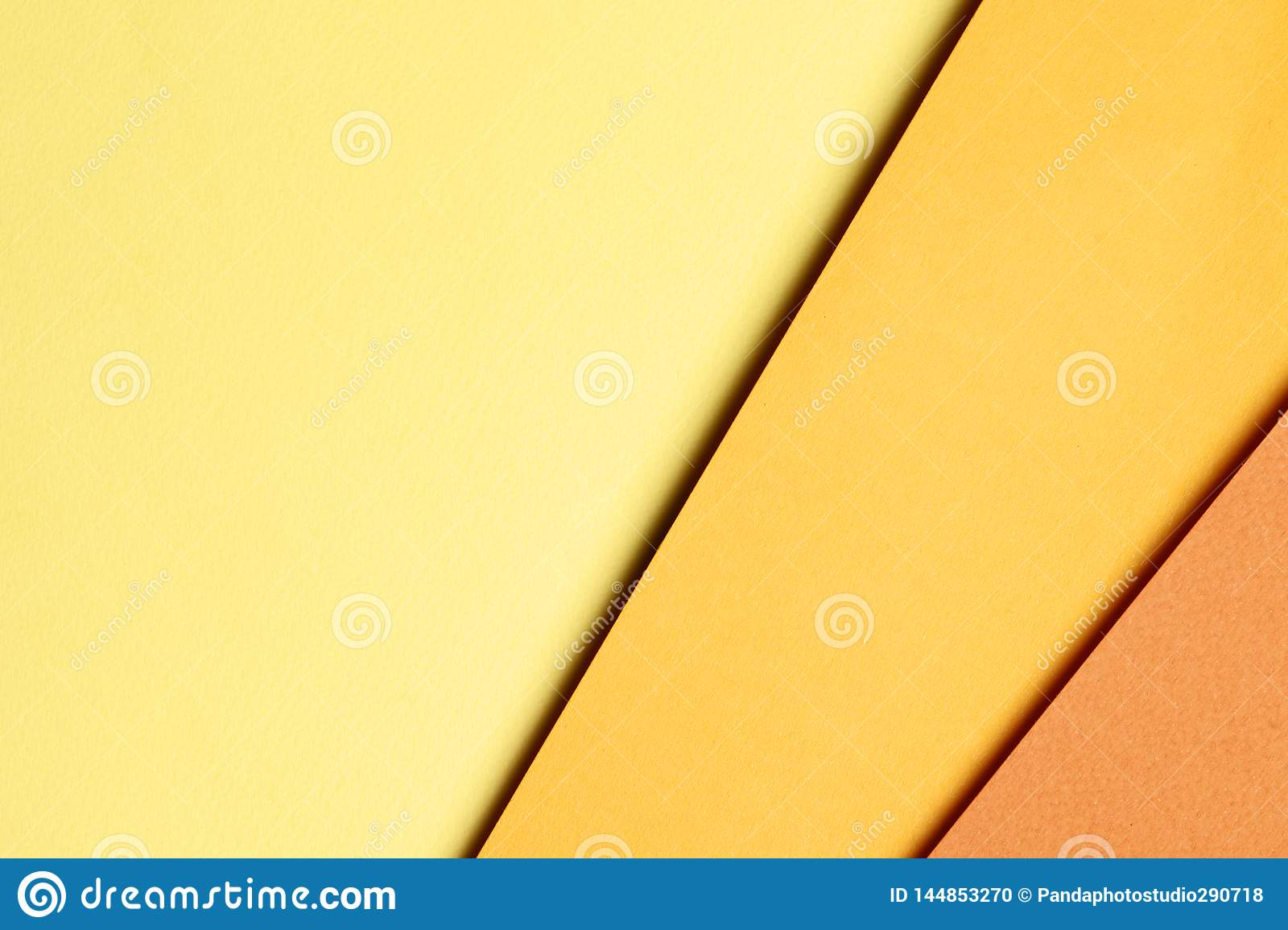 Bright orange abstract blank paper background