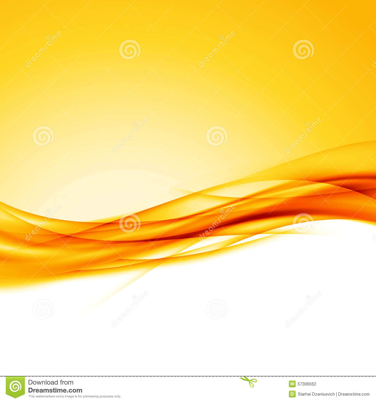 Bright orange swoosh wave border background modern futuristic abstract ...