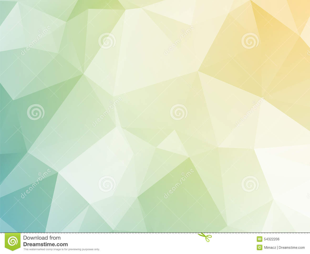 Bright Pastel Yellow Blue Green Triangular Background Stock Photo