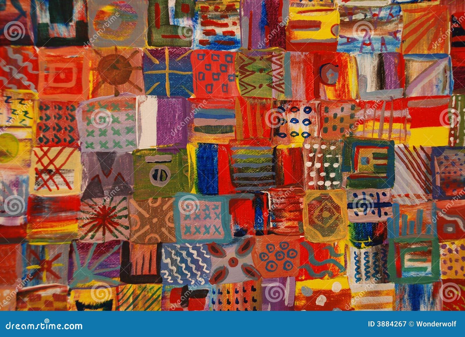 Bright Patchwork Quilt Stock Illustration Illustration Of