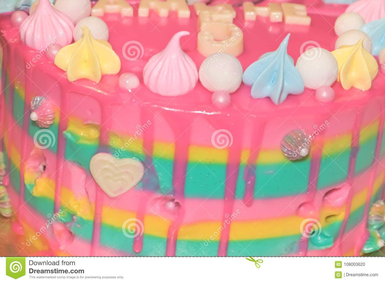 Cake For Girls Stock Photo Image Of Girl Colored