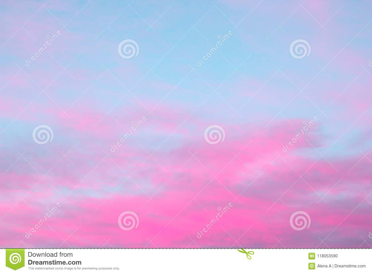 Bright pink clouds