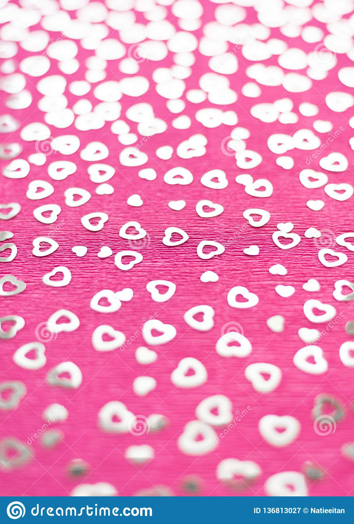 Bright pink crepe paper background.