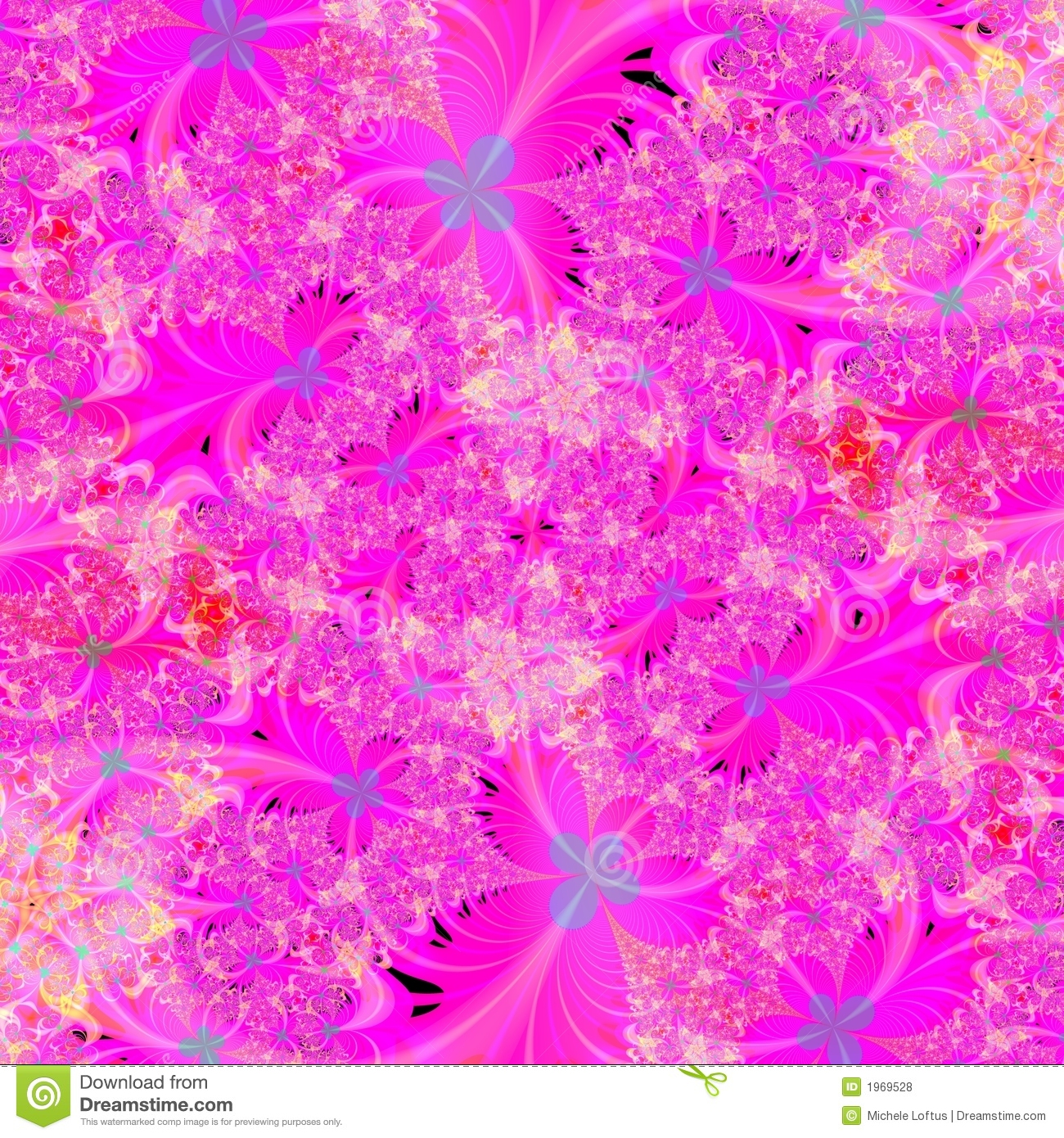 bright pink floral abstract background design template stock