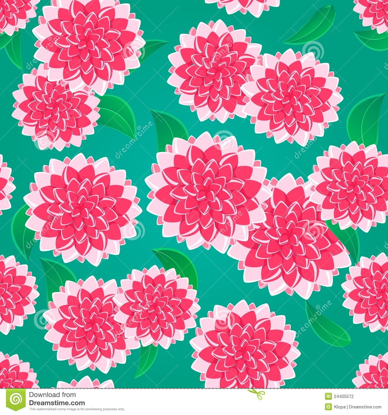 Bright Pink Flower Seamless Pattern Stock Vector ...