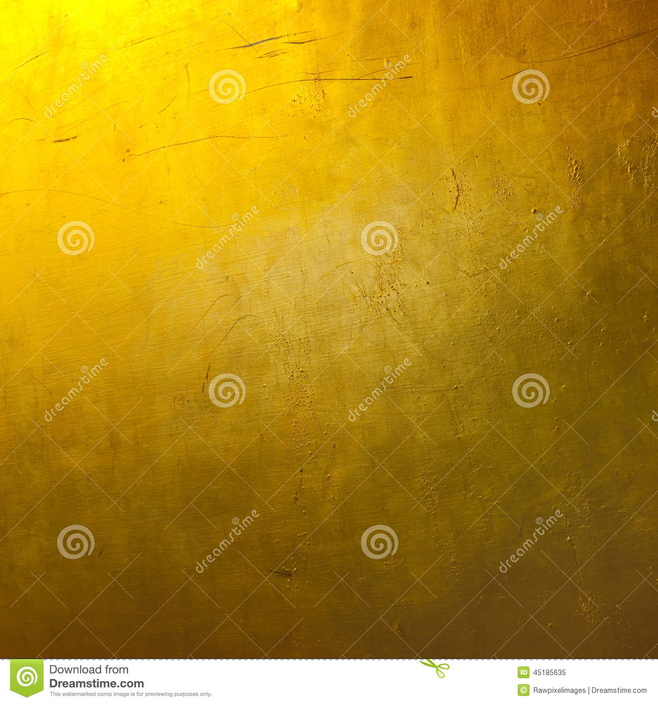 Bright Plain Gold Texture Wallpaper Stock Image