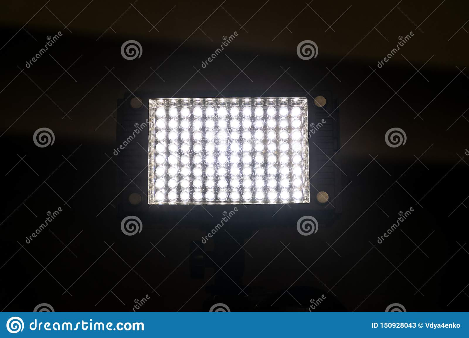 Bright powerful light of a rectangular lantern with LEDs
