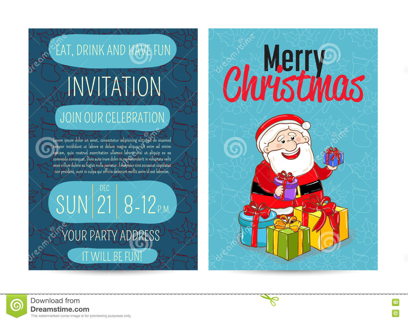 Bright promotion flyer for club christmas party stock vector download bright promotion flyer for club christmas party stock vector illustration of poster ribbon stopboris Choice Image