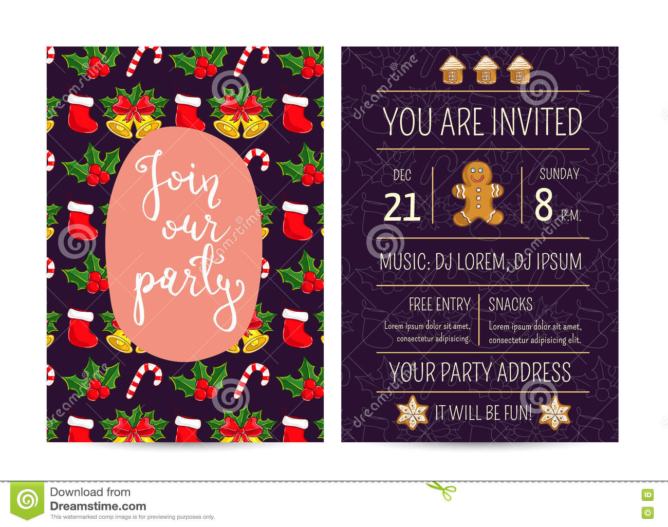 Bright promotion flyer for club christmas party stock vector download bright promotion flyer for club christmas party stock vector illustration of announcement address stopboris Choice Image