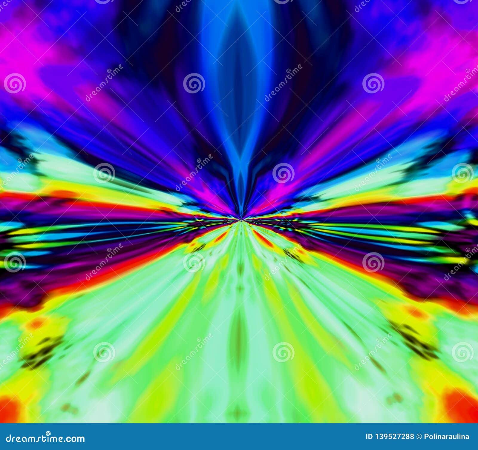 Tie Day Acid Rainbow Background.Canvas Print Stock
