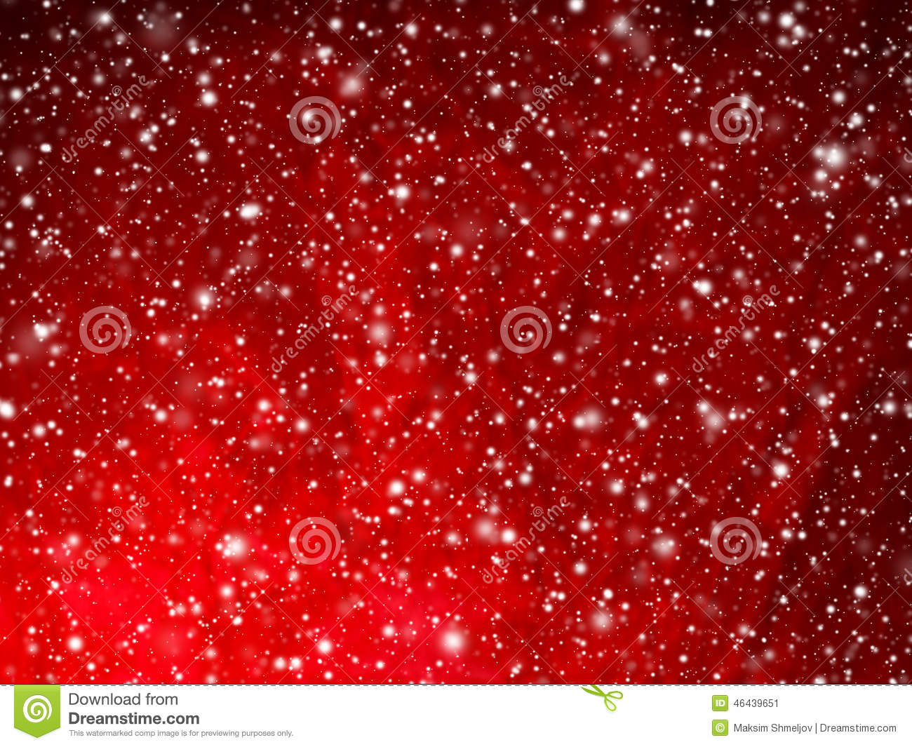 Bright Red Abstract Christmas Background With Falling Snow Stock Photo ...