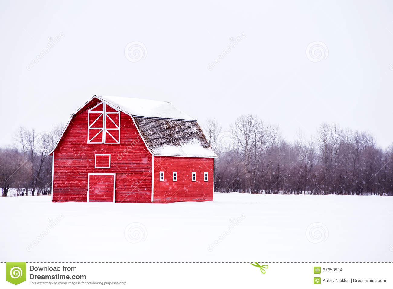 Red Barn Background bright red barn in winter landscape stock photo - image: 67658934