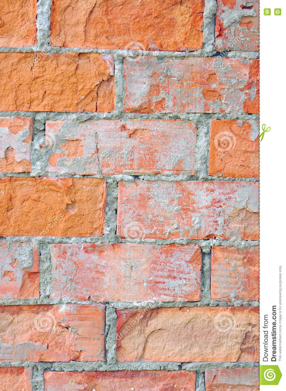 Red Brick Stone : Red brick stone wall vertical background royalty free