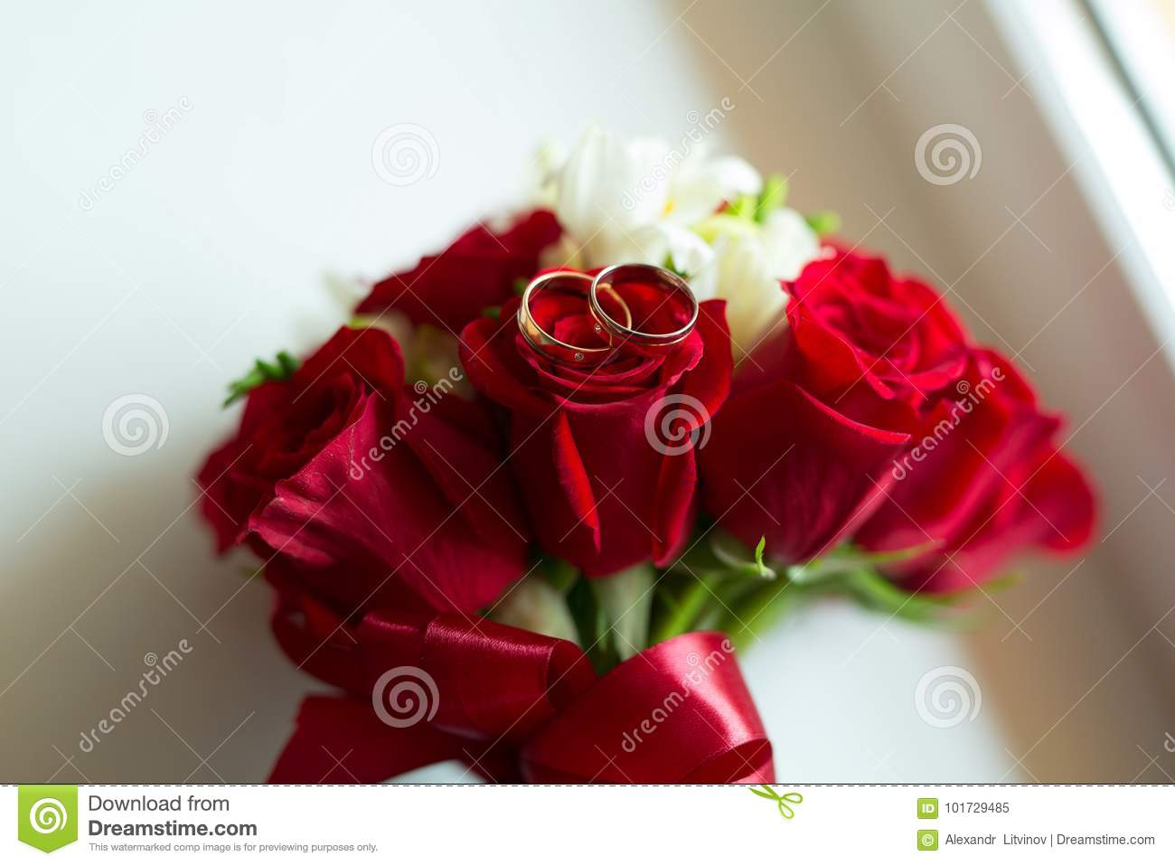 Bright red bridal bouquet of fresh flowers of red roses stock image bright red bridal bouquet of fresh flowers of red roses izmirmasajfo