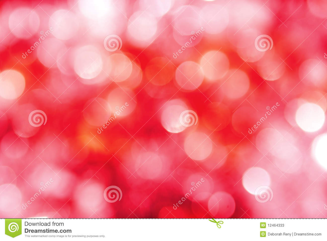 Bright Red Pink White Holiday Lights Background Stock Photo